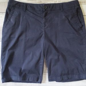 Liz Claiborne Dark Navy Classic Shorts Size 14